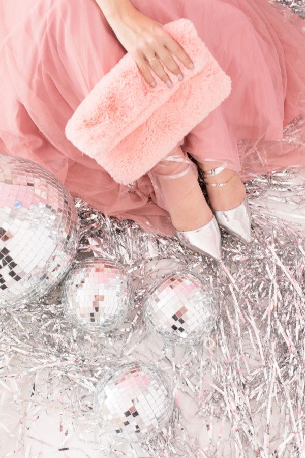 Pink Faux Fur Clutch