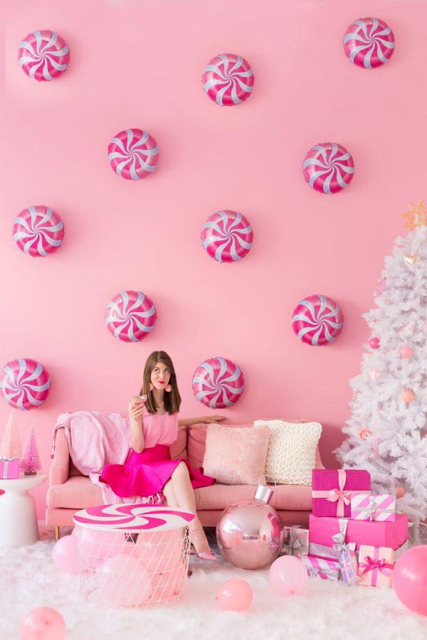 Pink Peppermint Balloons