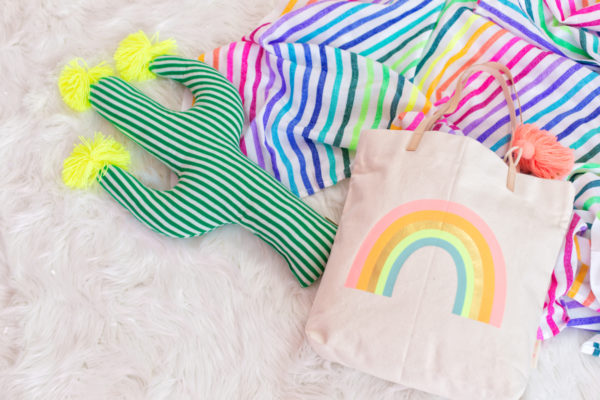 Rainbow Blanket and Tote