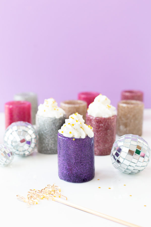 DIY Glitter Shot Glasses