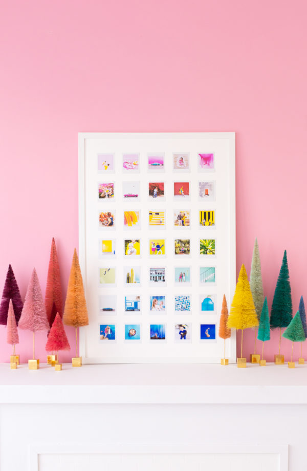 DIY Rainbow Photo Collage