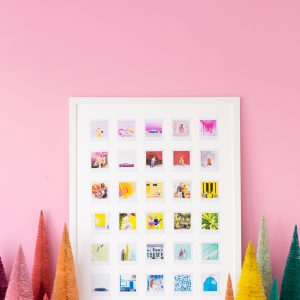 DIY Rainbow Photo Collage With Instax Square
