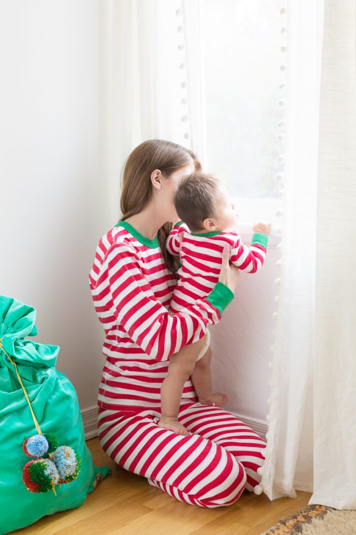 Matching Striped Christmas Pajamas
