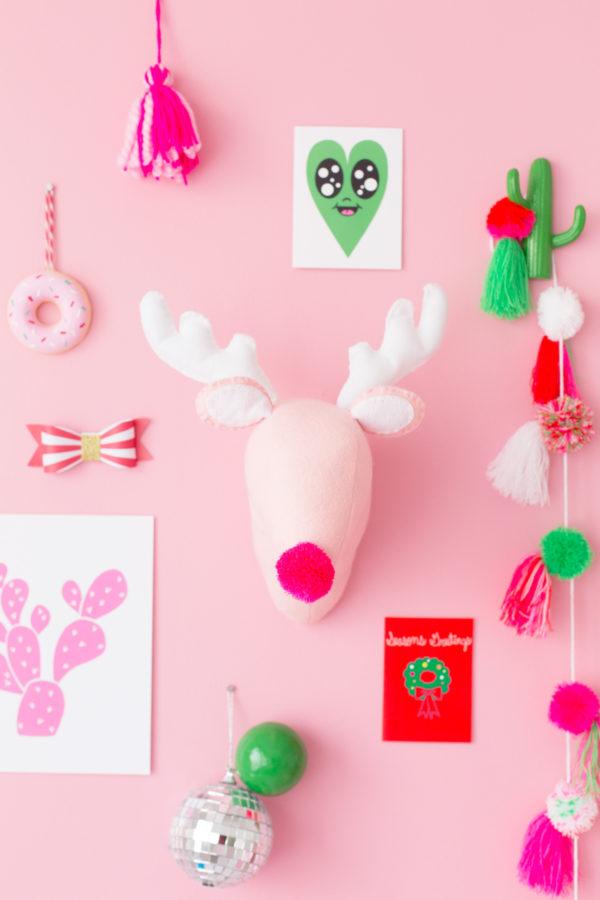 DIY Plush Reindeer Head