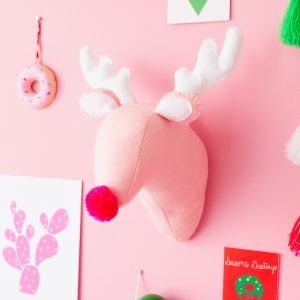 DIY Plush Reindeer Head