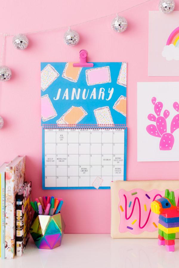 2018 Free Printable Wall Calendar
