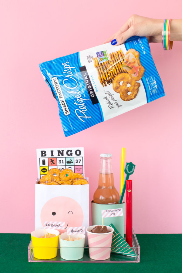 DIY Personal Snack Boxes for Game Time