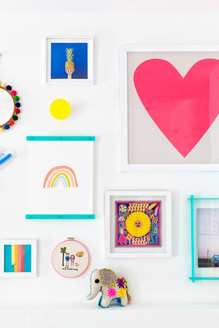 Colorful Nursery Gallery Wall