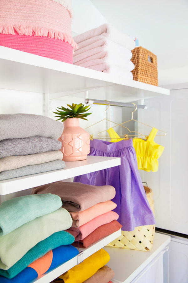 Colorful Master Closet Reveal