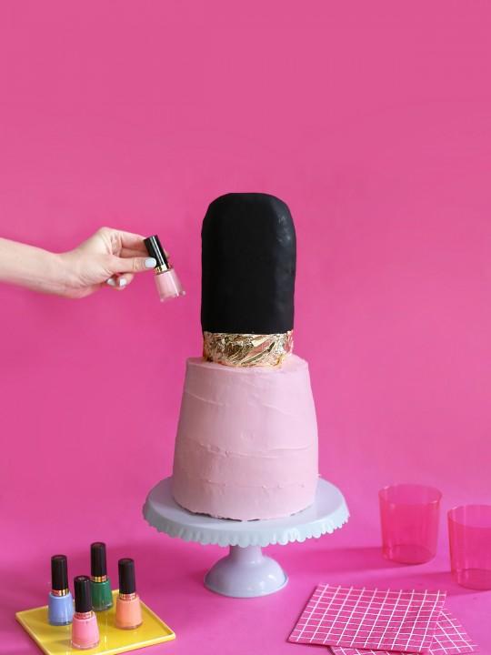 DIY Nail Polish Cake
