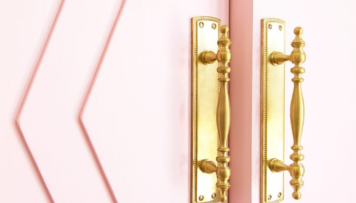 How To Make Our Pink Closet French Doors