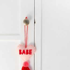 DIY Conversation Heart Tassel Charms