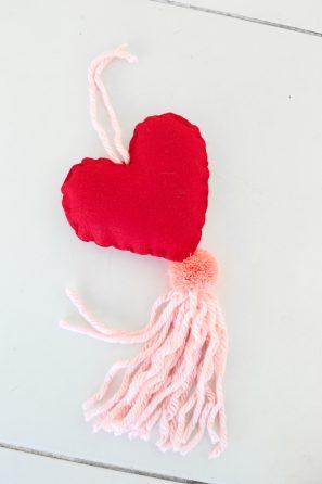 DIY Conversation Heart Tassel Charm
