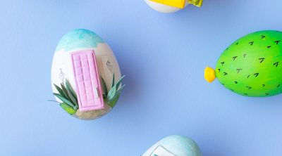 DIY Palm Springs Easter Eggs