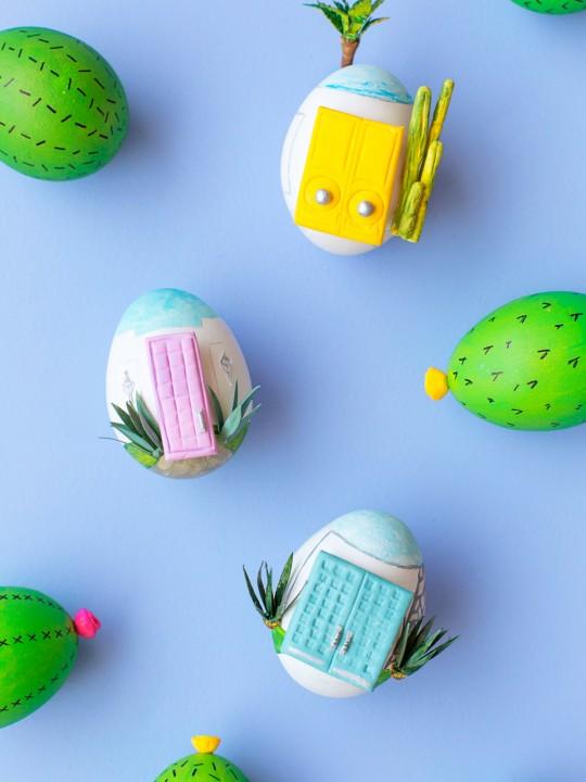 DIY Palm Springs Easter Eggs