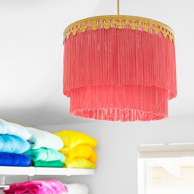 How To Make a Fringe Chandelier