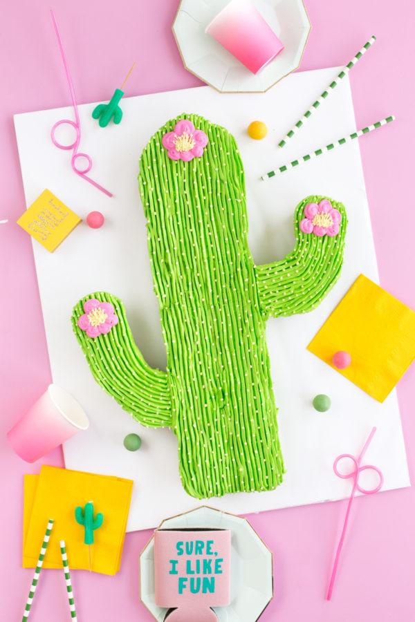 Pull-Apart Cactus Cupcake Cake