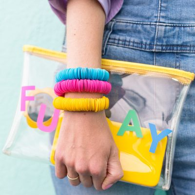 DIY Paper Disk Bracelets from Craft The Rainbow