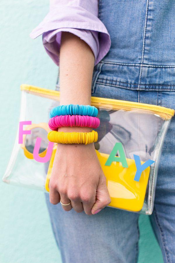 DIY Paper Disc Bracelets