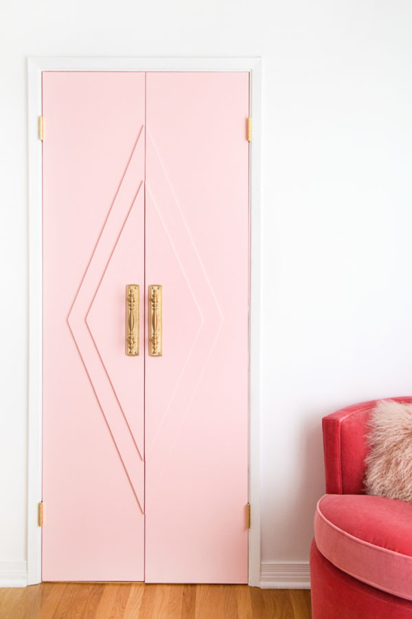 DIY Pink Closet French Doors