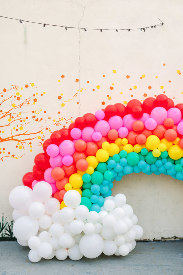 Giant Balloon Rainbow - To Infinity and Beyond First Birthday Party