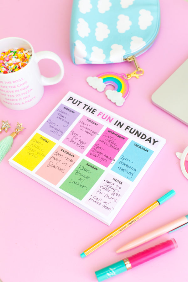 Funday Weekly Planning Notepad