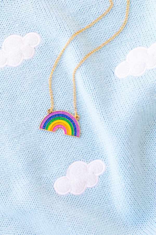 Glitter Rainbow Necklace