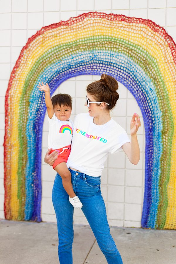 Funemployed + Rainbow Mommy and Me Set!