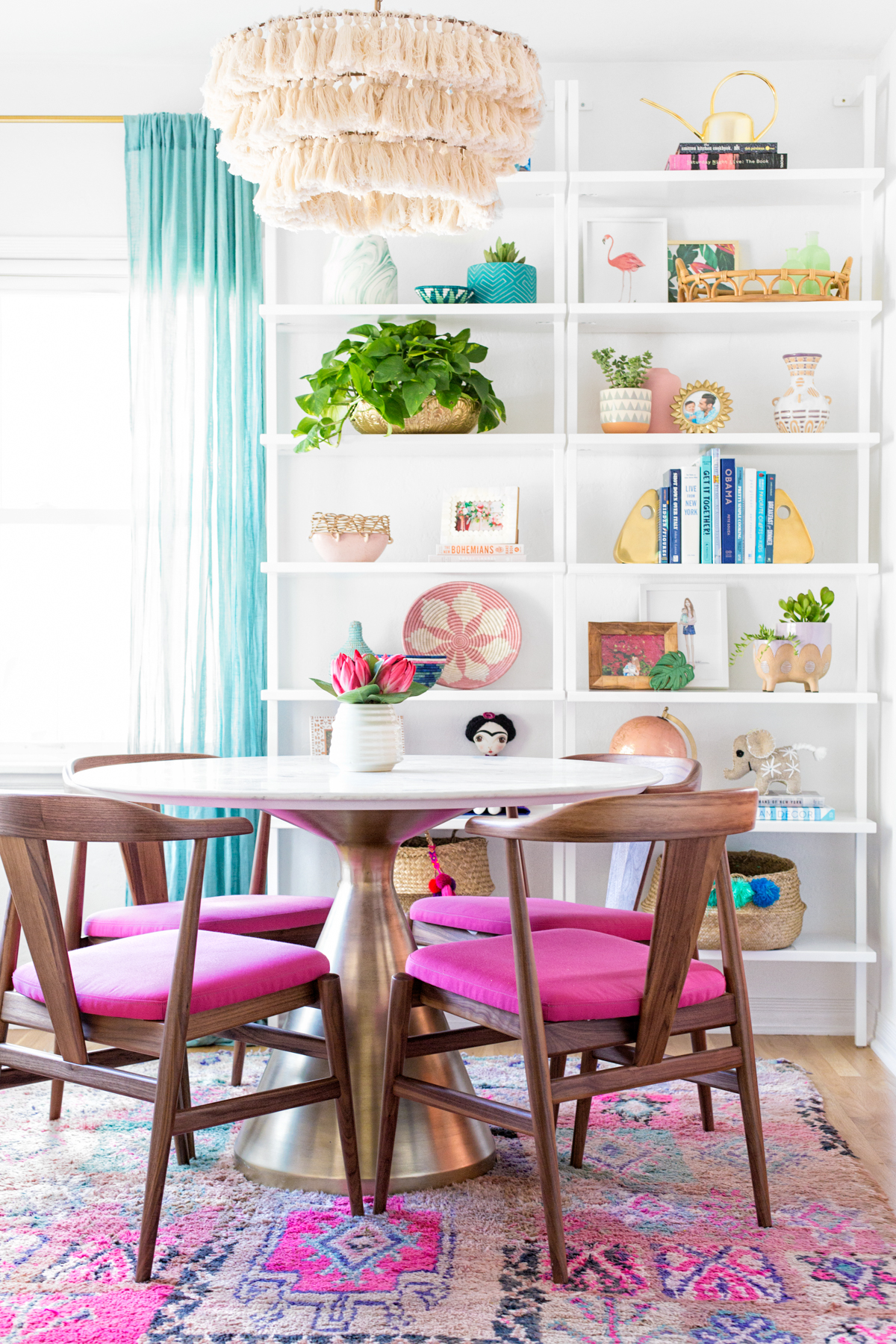 Our Pink Dining Room Reveal Our Dining