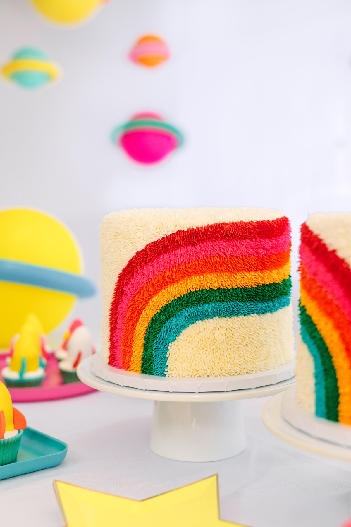 Rainbow Birthday Cakes First Party