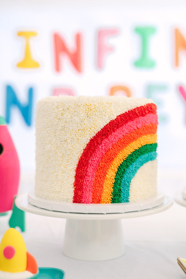 Rainbow Cake | To Infinity and Beyond First Birthday Party