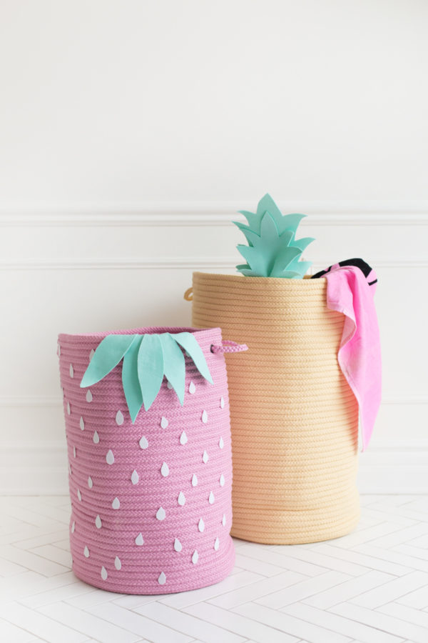How To Make Fruit-Inspired Storage Baskets