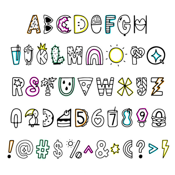 Funshine Summer Font Collab With Rad And Happy