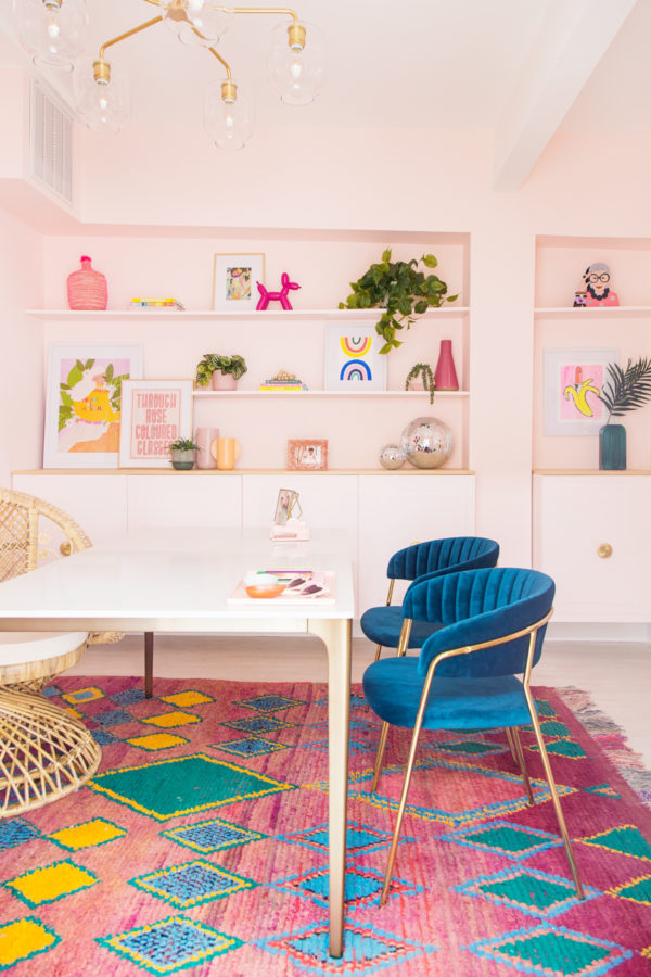 My Colorful Office Makeover