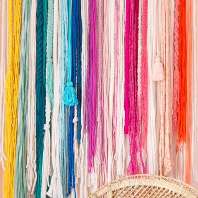 How To Make A No-Weave Rainbow Wall Hanging