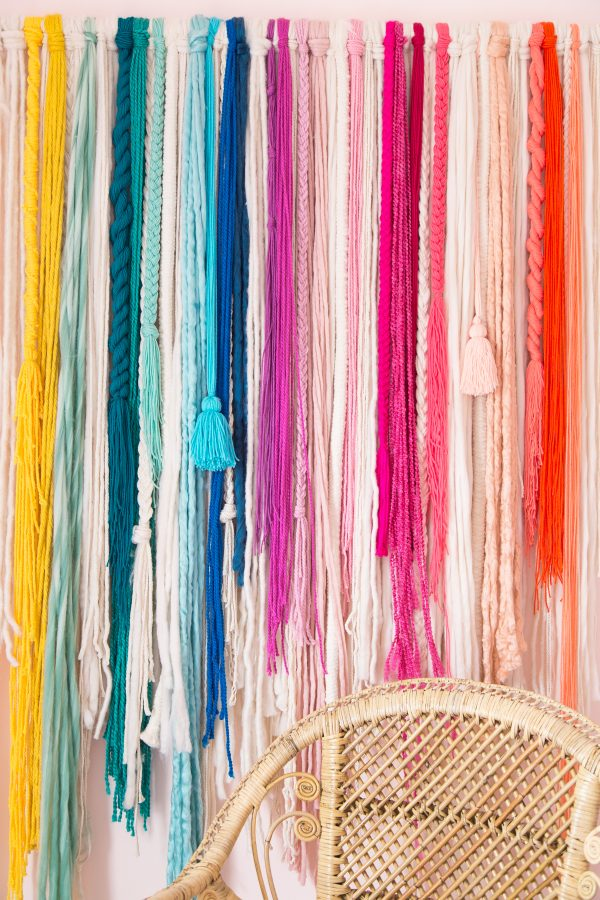 How To Make A No Weave Rainbow Wall Hanging Studio Diy