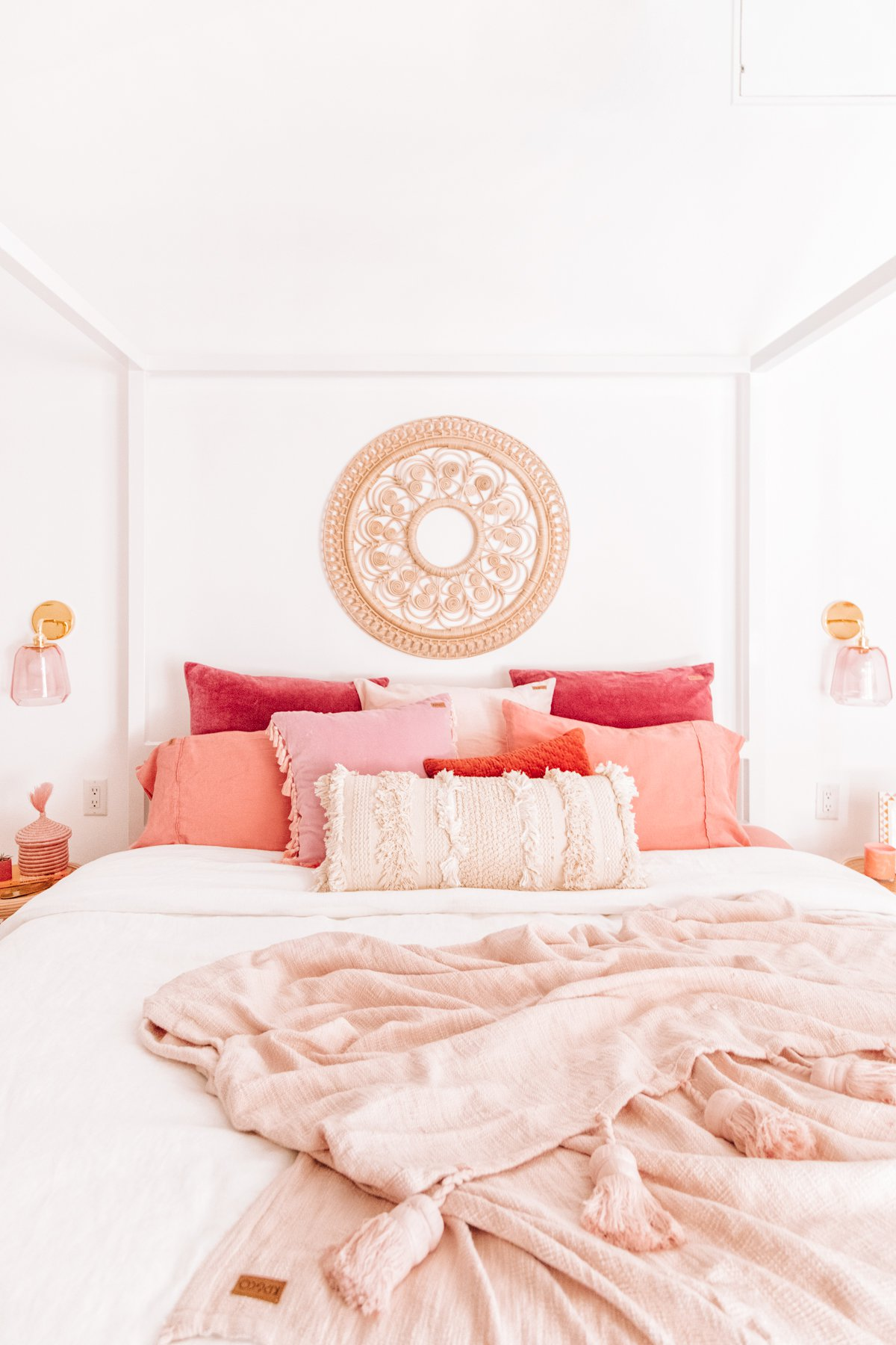 Cozy Pink Master Bedroom Reveal - Studio DIY