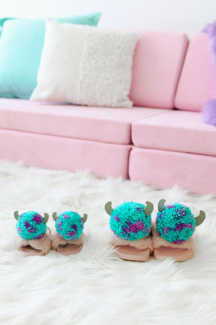 Sully Monster's Inc Pom Pom slippers