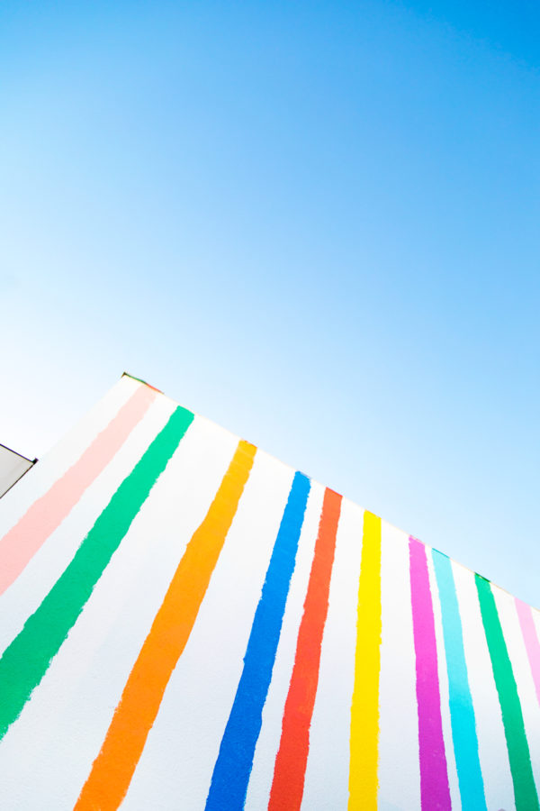 How to Paint a Rainbow Stripe Wall