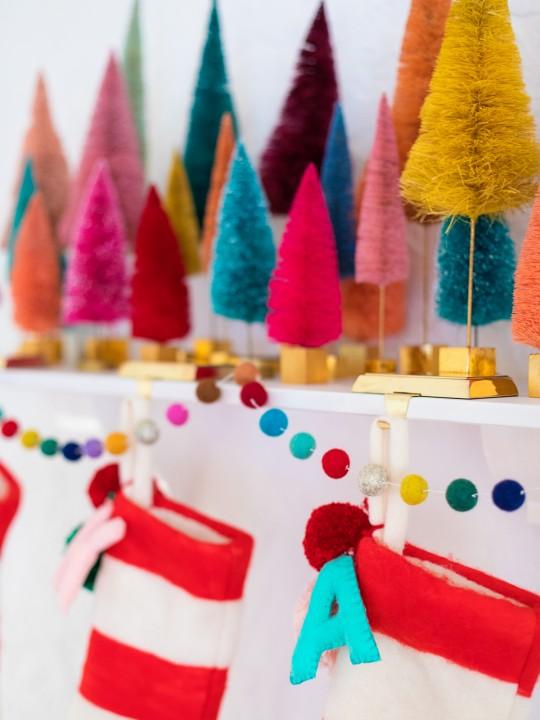 Where to Buy Bottle Brush Trees + Decorative Christmas Trees