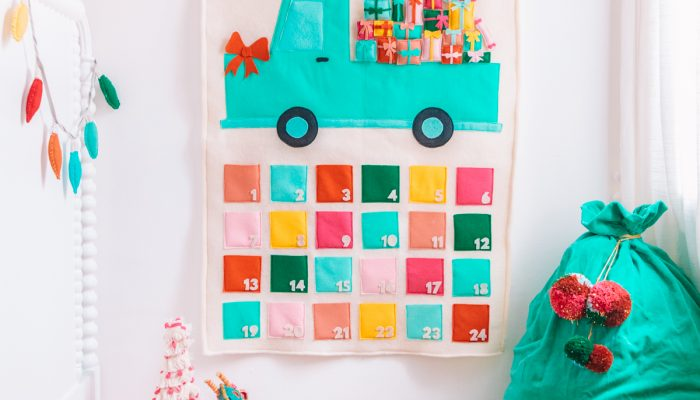DIY Felt Truck Advent Calendar