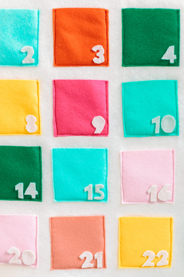 DIY Felt Truck Advent Calendar