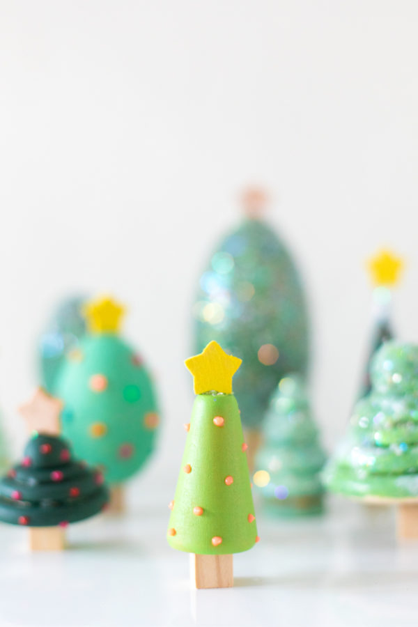 DIY Wooden Christmas Tree Forest