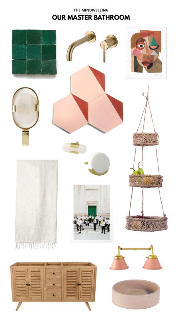 Pink & Green Master Bathroom