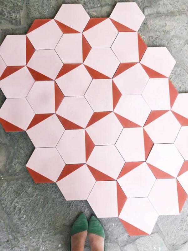 Pink Cle Tile Clip Cement Tile
