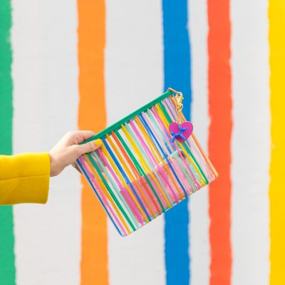 Can't Clutch This: Rainbow Stripe Clutch