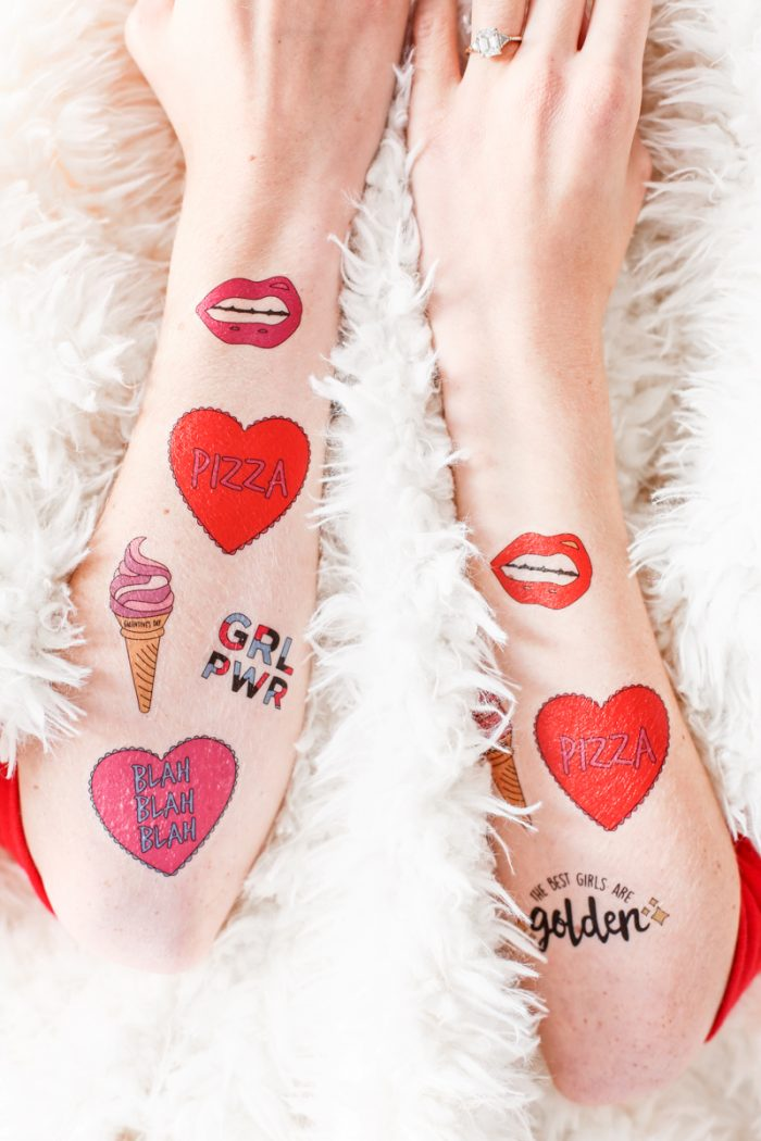 Free Printable Valentine's Day Tattoos