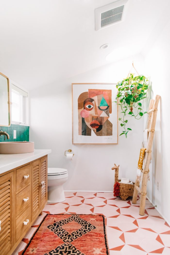 Colorful Bohemian Bathroom