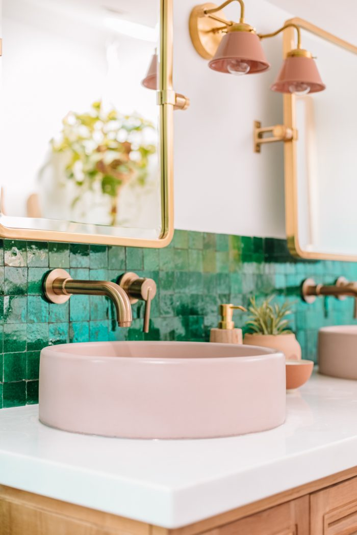 Pink Concrete Sinks