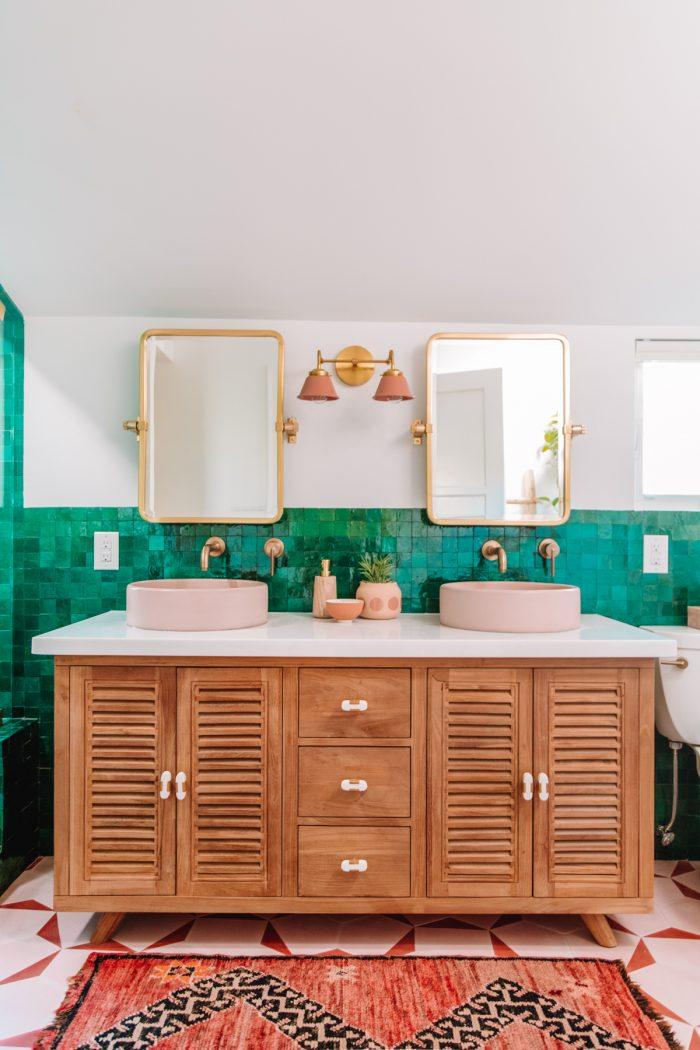 Bohemian Master Bathroom